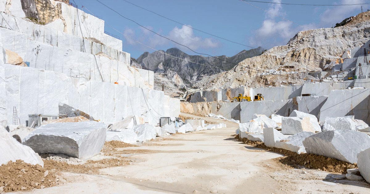 Indian white marble quarry